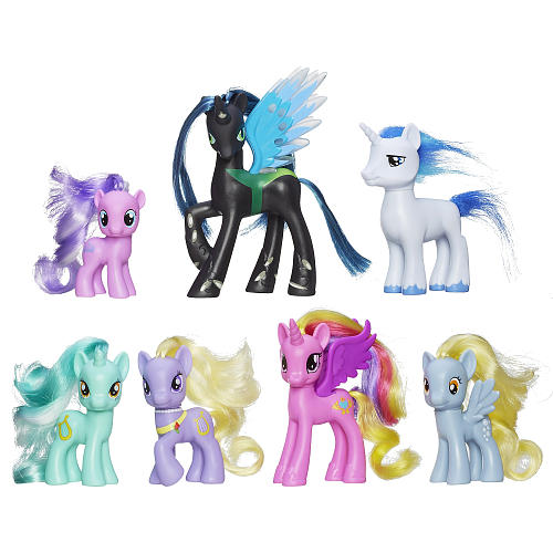 This Collection Of Elegant Ponies Includes Queen Chrysalis Princess Cadance Shining Armor Diamond Dazzle Tiara Lyra Heartstrings And Lyrica Lilac