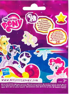 My Little Pony Friendship is Magic 2 Inch PVC Figure Sprinkle Stripe Purple Card
