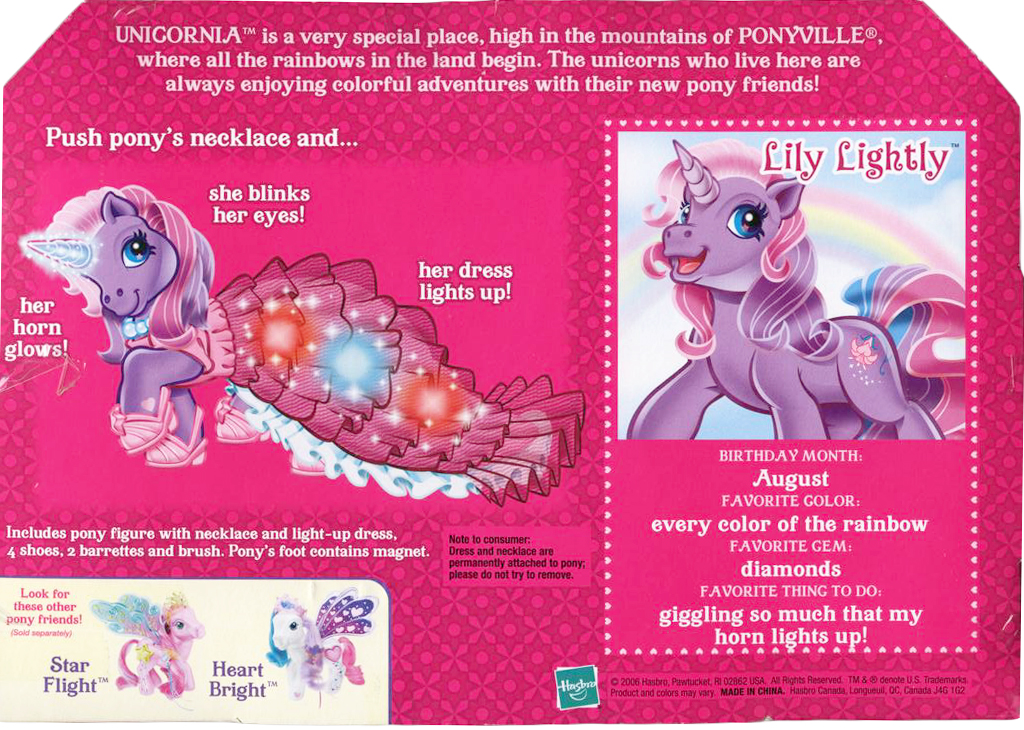 G3 My Little Pony Reference Lily Lightly