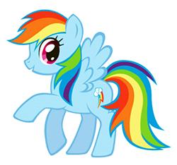 Rainbow Dash Head Side My Little Pony Friendship Is Magic Meta